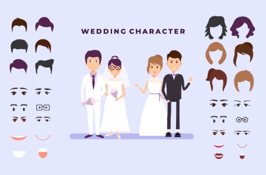 karakter undangan pernikahan